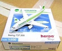 Herpa Wings 1:500 500425 Germania Boeing 737-300 D-AGEG Die-cast Airplane Model