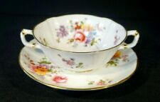 Royal Crown Derby, Derby Posies Cream Soup Bowl And Saucer