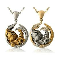 Animal Tiger Pendant Necklaces For Women Natural Animal Necklace Charm G5C5