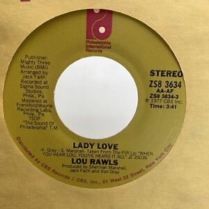 Lou Rawls Not The Staying Kind / Lady Love 45 RPM Record Vinyl