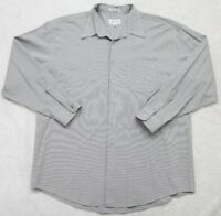 Alfani Dress Shirt XL Extra Large Long Sleeve Button Up Gray Pocket Mens Mans