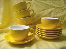 BEVANDE YELLOW 200ml COFFEE TEA CUP AND SAUCER SET (6-SETS) BRAND-NEW COMMERCIAL