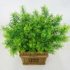 Artificial Fake Plants Outdoor Plastic Cedar Shrub Greenery Bushes Home