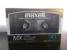 Cassette Tape Blank - 1 X (ONE) Maxell metal MX 90 (1986-87 (Type IV)