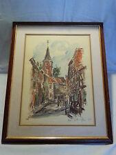 Hans Rolf Leter picture watercolour