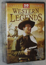 Western Legends 50 Classic Cowboy Movies John Wayne Roy Rogers Autry DVD Box Set