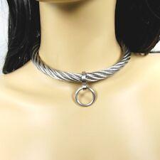 Halsreif der O Halsring aus Edelstahl Stahlseil Schmuck abnehmbarer Ring Gr. XL