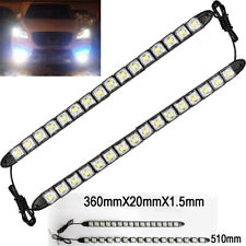 16 LED 6K White Waterproof Universal DRL Flexible Strip Turn Signal Light BM A V