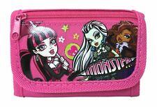 Monster High wallet Pink Children Boys Girls Wallet Kids Cartoon Coin Purse