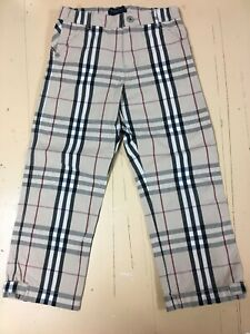 EUC Authentic BURBERRY baby kids boy or girl nova check pants size 4