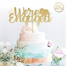 were engaged cake topper, engagement cake, wedding cake topper, bridal party
