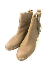 ACNE Studios Pistol Boots Ankle Womens Size 39 Light Brown Leather Zip