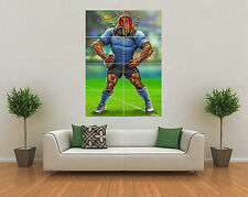 NSW BLUES STATE OF ORIGIN INSPIRED RUGBY NRL MASCOT GIANT WALL ART POSTER PRINT