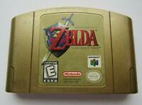 ✅ *GOOD* Zelda Ocarina of Time Gold Nintendo 64 N64 Video Game RPG Super Rare