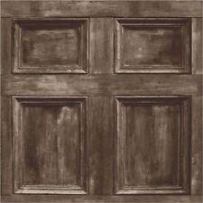 Panel de madera marrón oscuro papel tapiz de pared característica de puerta realista de madera Fine Decor