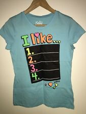 Girls Justice Brand Light Blue color t-shirt Size 14 NEW