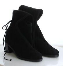 53-25 Women's Size 9M Stuart Weitzman Black Suede Over The Knee Heeled Boots
