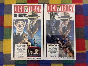 Dick Tracy VHS Lot SEALED VCI Ralph Byrd
