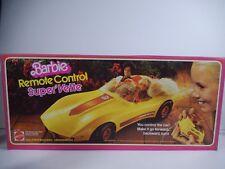 NIB BARBIE DOLL 1983 VINTAGE SUPER' VETTE SPORTS CAR REMOTE CONTROL YELLOW