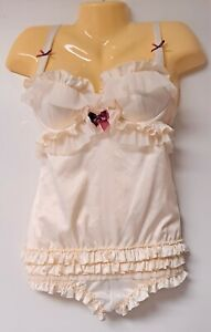 Victoria Secret Sexy Little Things       36B        IVORY UNDERWIRE RUFFLE TEDDY