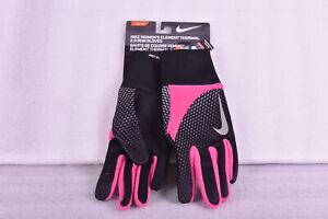 Women's Nike Element Thermal 2.0 Run Gloves, Pink / Black, Medium