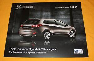 Hyundai i30 Wagon 2012 Prospekt Brochure Depliant Prospetto Catalog Folder