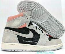 Nike Air Jordan Retro 1 Neutral Grey HYPER Crimson 555088-018 in Hand 100 FB