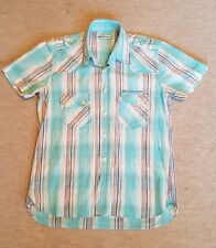 """DUCK & COVER SHORT SLEEVED STRIPED SHIRT. 100% COTTON. SIZE M (40""""). RRP £49."""