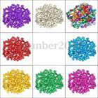 100 x Colorful Iron Loose Beads Christmas Jingle Bells Pendants Charms 8x6 mm