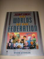 STAR TREK THE WORLDS OF THE FEDERATION by SHANE JOHNSON, SOFTCOVER, 1989!