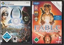 Fable The Lost Chapters + Sacred 2 Fallen Angel Sammlung Rollenspiel PC Spiele