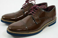 Men's Ted Baker London Layke Cap Toe Derby Patent Leather Dress Shoes Size US 9