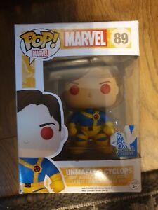 Funko POP! Marvel X-Men Unmasked Cyclops #89 Vinyl Figure Geek Box Exclusive