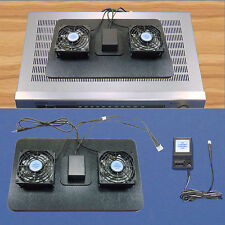 AV Receiver cooling fans with 12 volt trigger, Airchamber-Base & mult-speed /12v