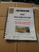 Hay Buster big bale buster Operating manuel instruction & parts reference