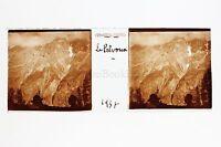 Monte Pelvoux Hautes Alpes Francia Placca Da Lente Positive 1937