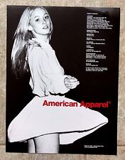 Vintage 2012 Collectable Vogue Magazine UK American Apparel Art Picture Advert