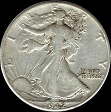 "A 1942 D Walking Liberty Half Dollar 90% SILVER US Mint ""Average Circulation"""