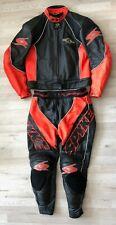 2-tlg Lederkombi Spyke Gr 54 Motorradkombi  Rot Schwarz Leather Suit Leder Kombi
