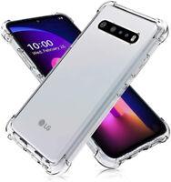 For LG V60 ThinQ V35 V30S V40 V50S V50 Clear Crystal Shockproof TPU Case Cover