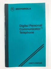 Vintage Motorola Digital Flip Personal Communicator MANUAL Analog. Ameritech