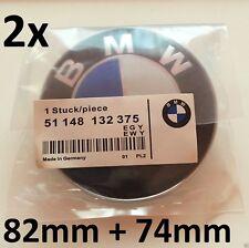 BMW SATZ 82mm + 74mm Vorne und Hinten Emblem 3er 5er Motorhaube Kofferraum