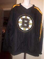 NHL BLUELINE Boston Bruins windbreaker shell pullover jacket side zip Mens 2XL