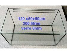Aquarium - cuve nue 120x50x50cm 300 litres < sur mesure dispo > VENDEUR FRANCAIS