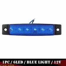 1X 12V 6-LED Super Blue Clearance Side Marker Trailer Light Van Waterproof 12V