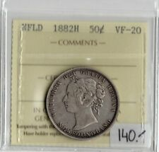 Newfoundland 1882H 50 Fifty Cents ICCS Certified VF-20 XUV 702