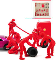 1/43 Red Mini Repair Refueling Tools Tire Doll Scene Props Figures Toy Gift