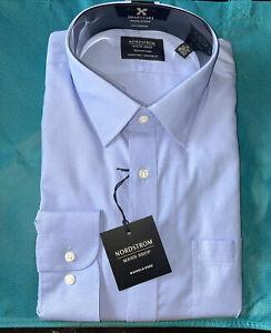 Nordstrom men shirt long sleeve Size 17 Color Blue