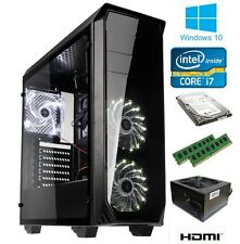 RAPID FAST LUMINOSITY GAMING PC WINDOWS 10 i7 QUAD CORE 16GB 1TB GT710 HDMI WIFI