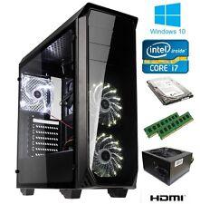 RAPID FAST LUMINOSITY GAMING PC WINDOWS 10 i7 QUAD CORE 16GB 1TB GT710 HDMI WIFI